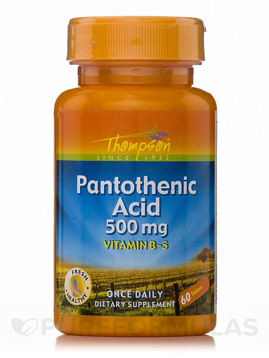 Pantothenic Acid 500 mg (Vitamin B-5) - 60 Tablets