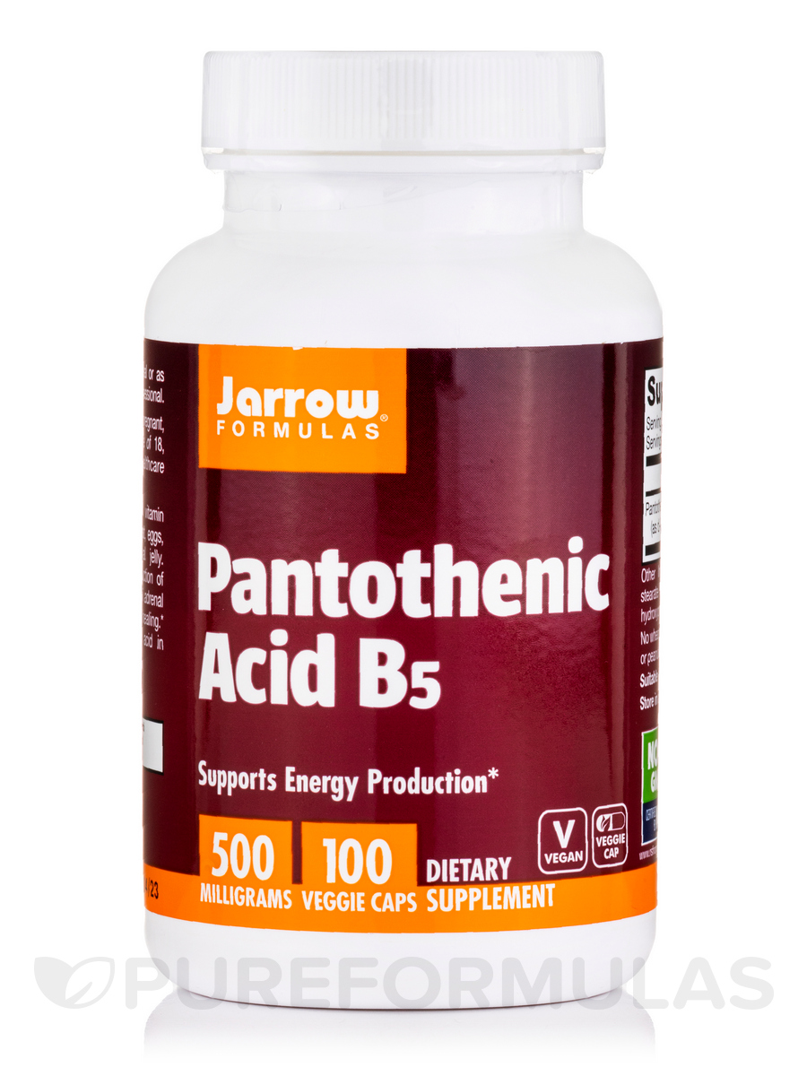 Pantothenic Acid B5 500 mg - 100 Capsules