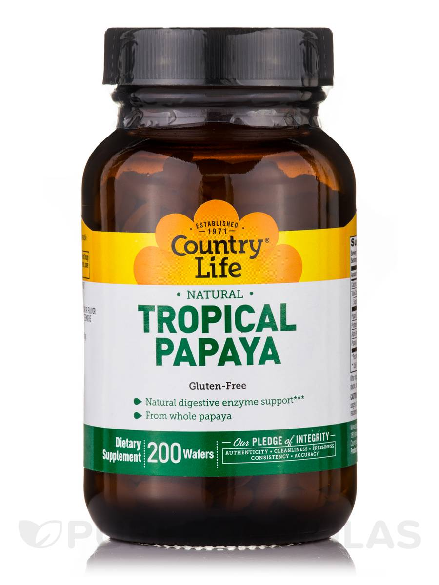 Natural Tropical Papaya - 200 Wafers