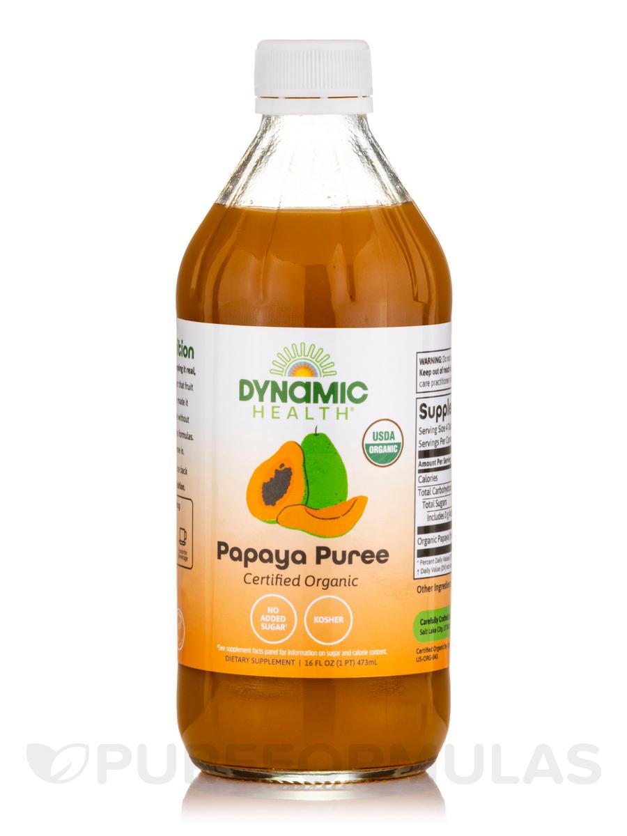 Papaya Puree, Certified Organic - 16 fl. oz (473 ml)