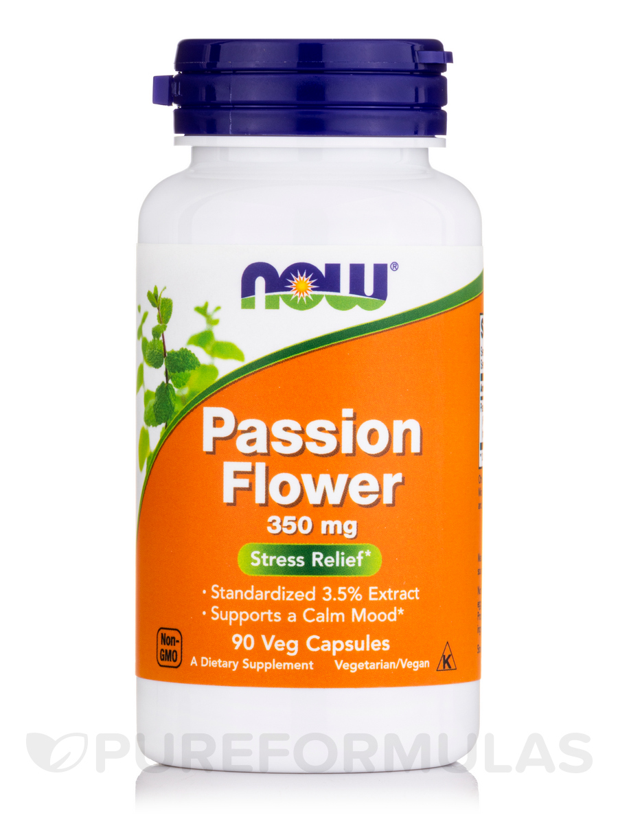 Passion Flower Extract 350 mg - 90 Vegetarian Capsules