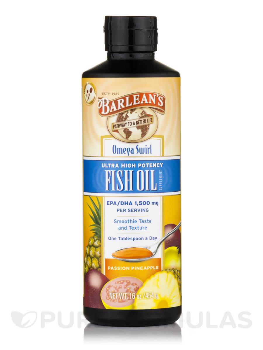 Seriously Delicious™ Omega-3 High Potency Fish Oil, Passion Pineapple Smoothie Flavor - 16 oz (454 Grams)