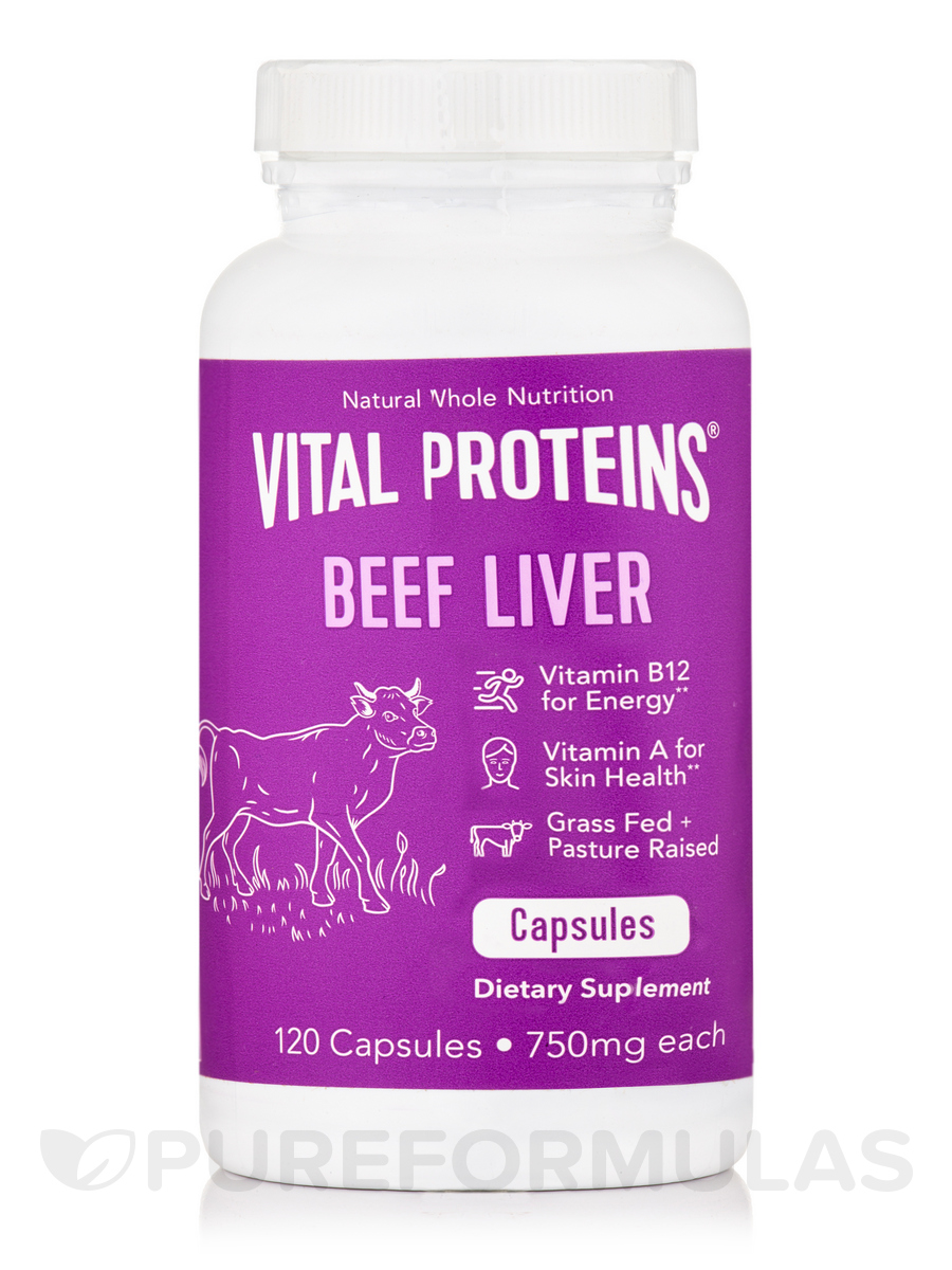 Beef Liver 750 mg - 120 Capsules