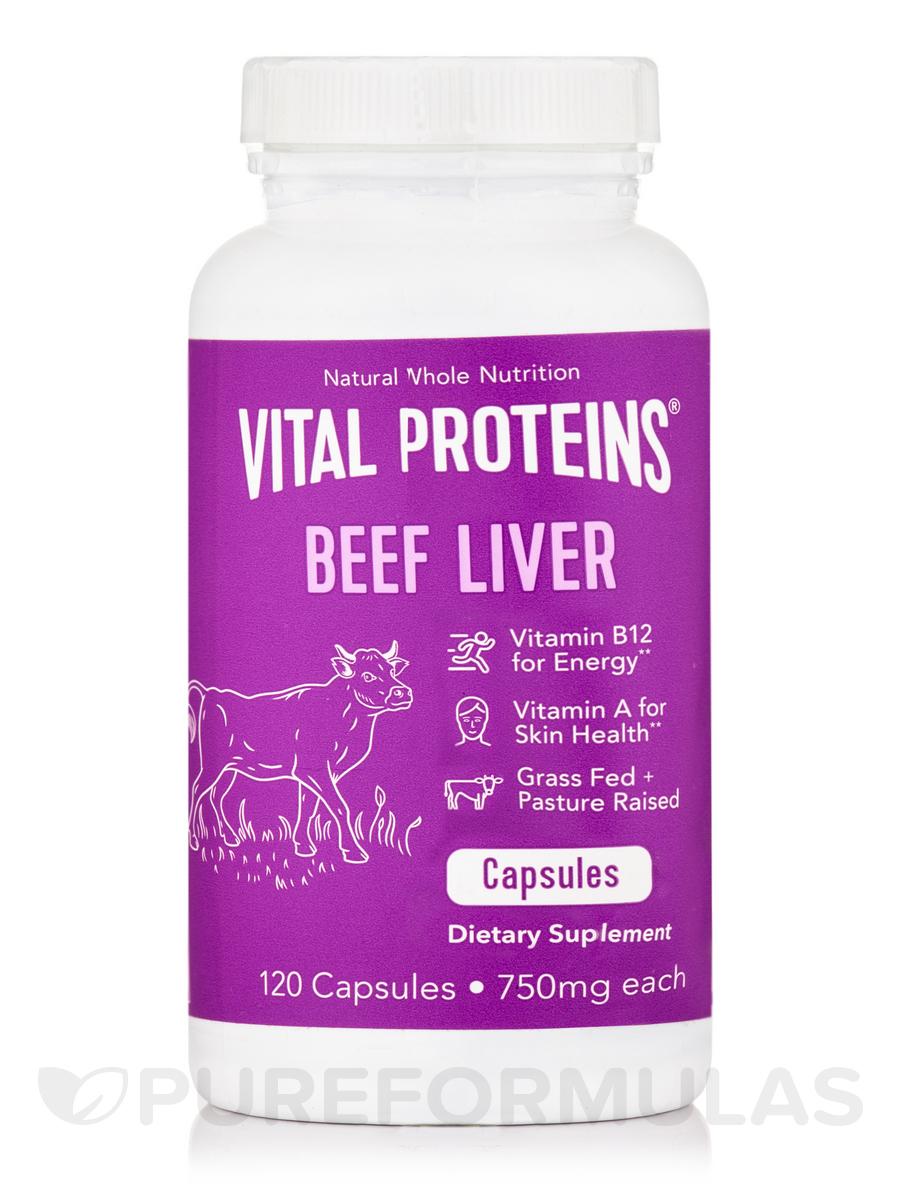 Beef Liver Capsules 750 mg (Pasture-Raised) - 120 Capsules