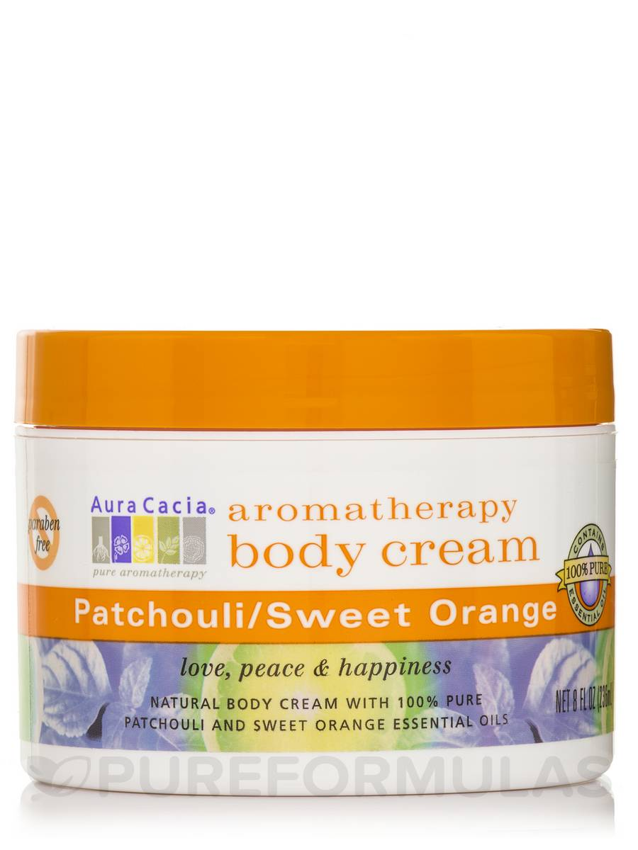 Patchouli/Sweet Orange Aromatherapy Body Cream - 8 fl. oz (236 ml)