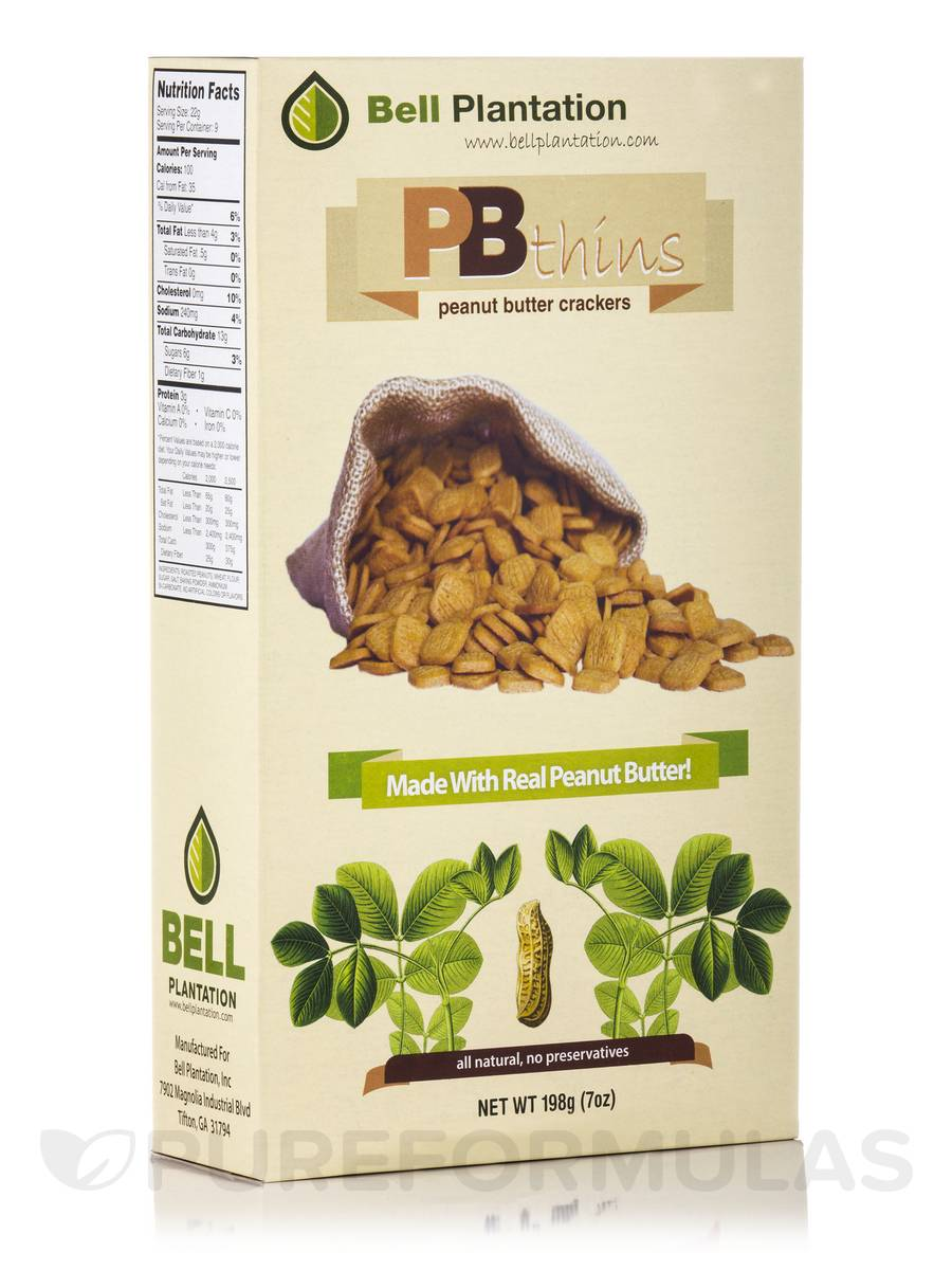 PBthins Peanut Butter Crackers - 7 oz (198 Grams)