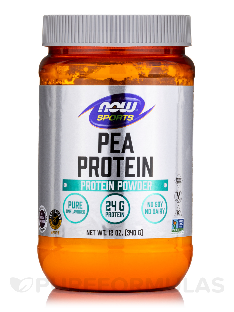 NOW® Sports - Pea Protein Natural Unflavored - 12 oz (340 Grams)