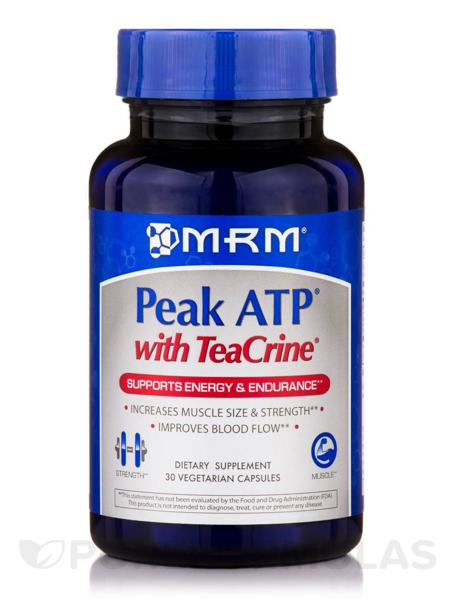 Peak ATP with TeaCrine - 30 Vegetarian Capsules