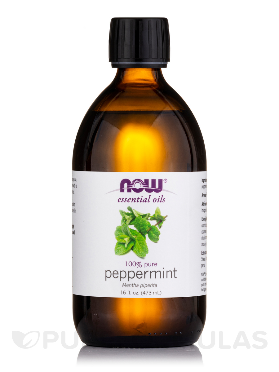 NOW® Essential Oils - Peppermint Oil (100% Pure) - 16 fl. oz (473 ml)