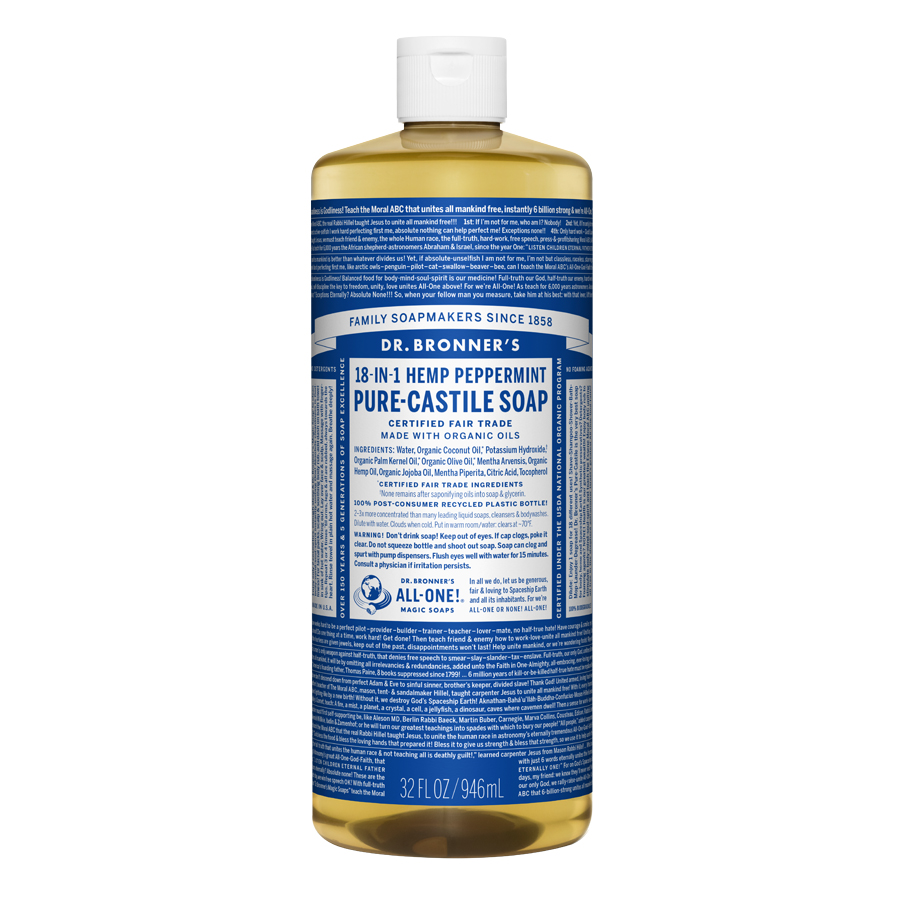 Peppermint Oil Pure Castile Liquid Soap - 32 fl. oz (946 ml)