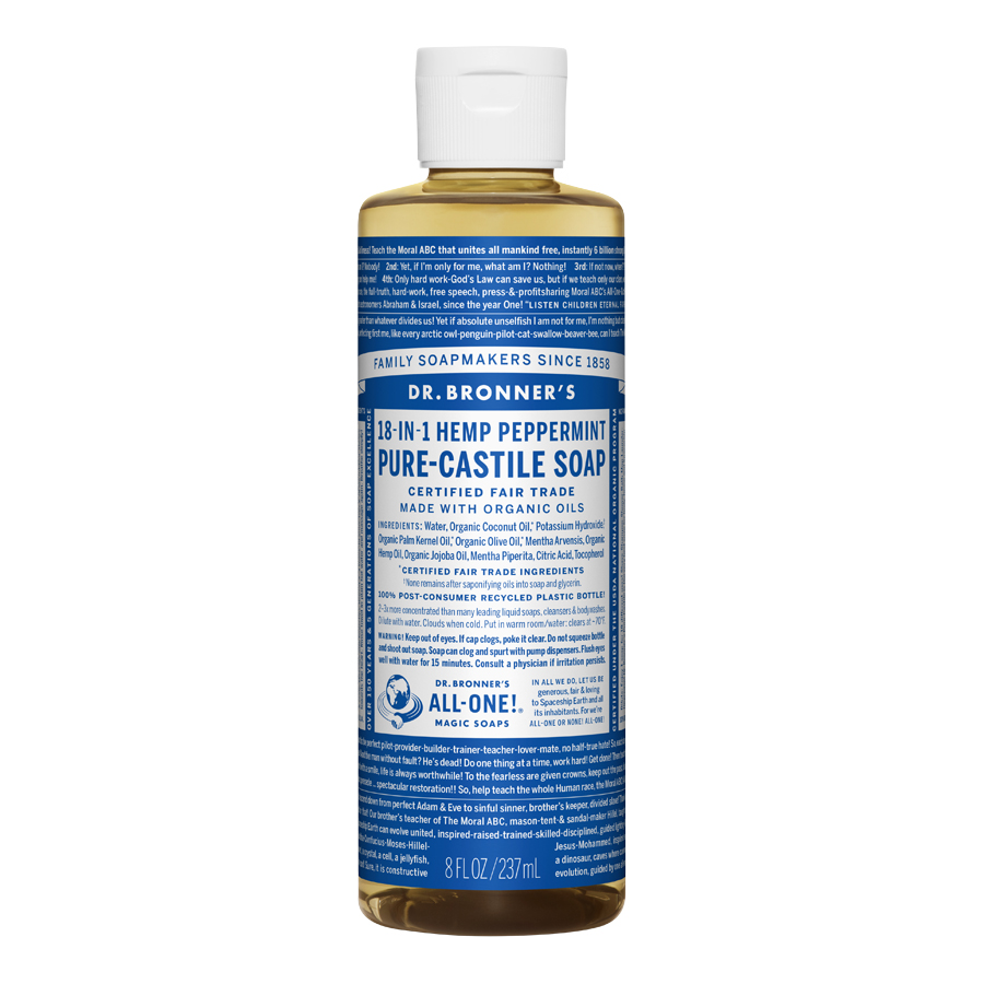 Peppermint Oil Pure Castile Liquid Soap - 8 fl. oz (237 ml)