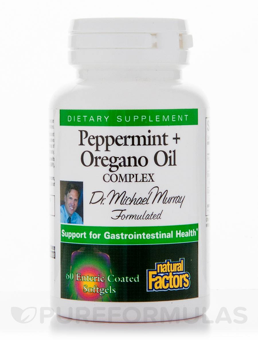 Peppermint + Oregano Oil Complex - 60 Enteric Coated Softgels