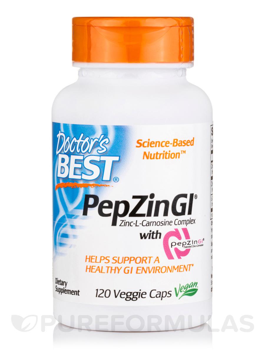 120 Veggie Capsules: PepZin GI® (Zinc-L-Carnosine Complex)