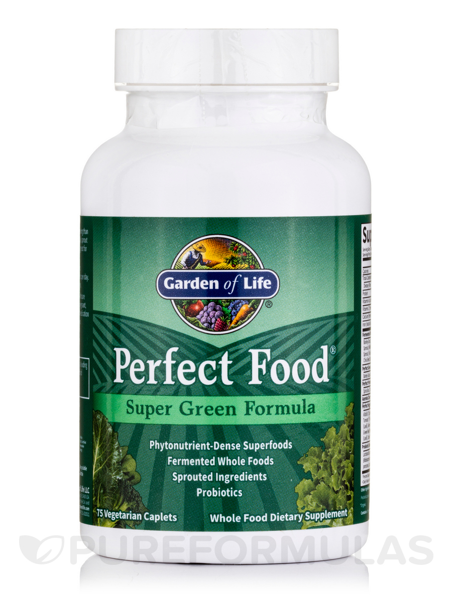 Perfect Food® - Super Green Formula - 75 Vegetarian Caplets