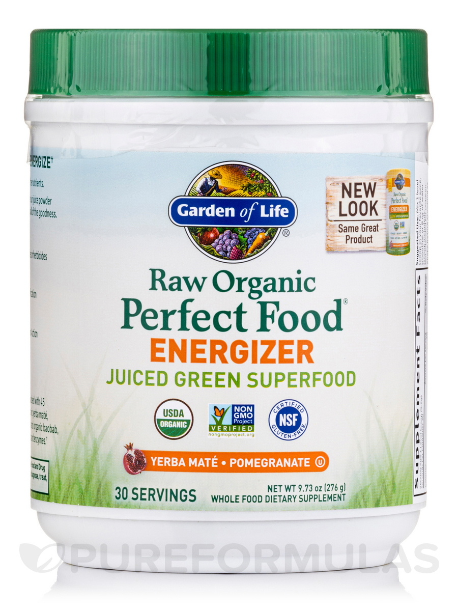 Raw Organic Perfect Food Energizer Juiced Green Superfood Powder