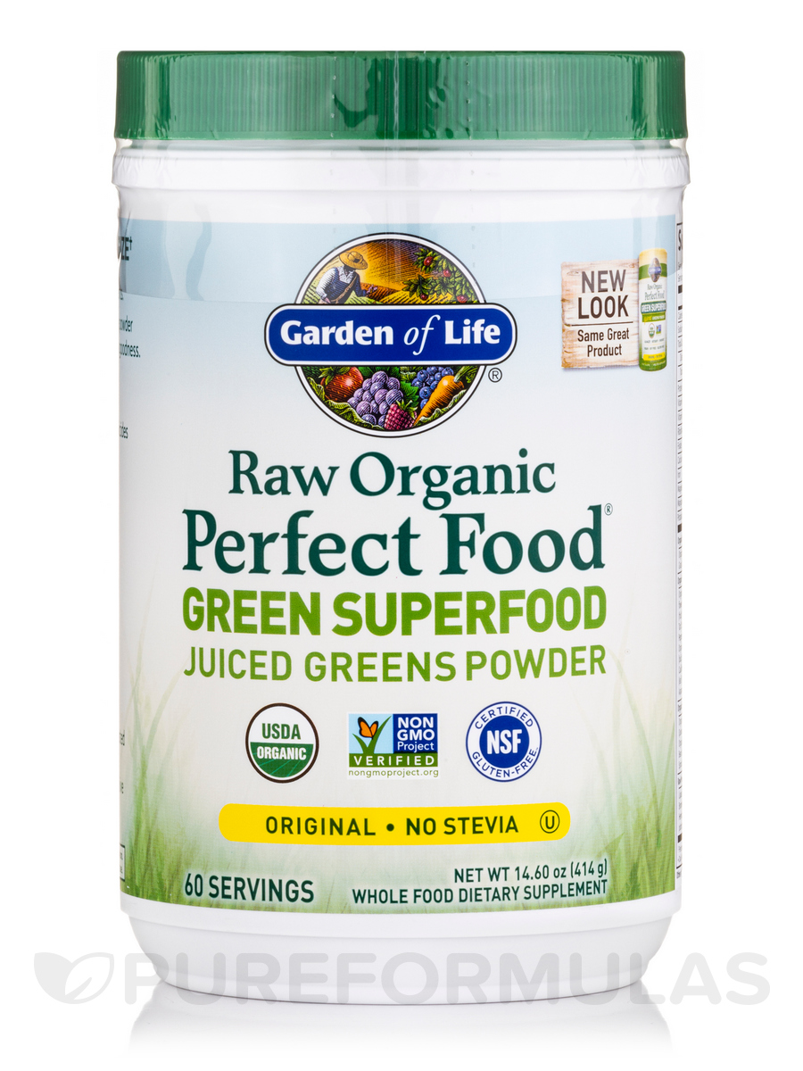 Raw Organic Perfect Food® Green Superfood, Pineapple Flavor - 14.8 oz (419 Grams)