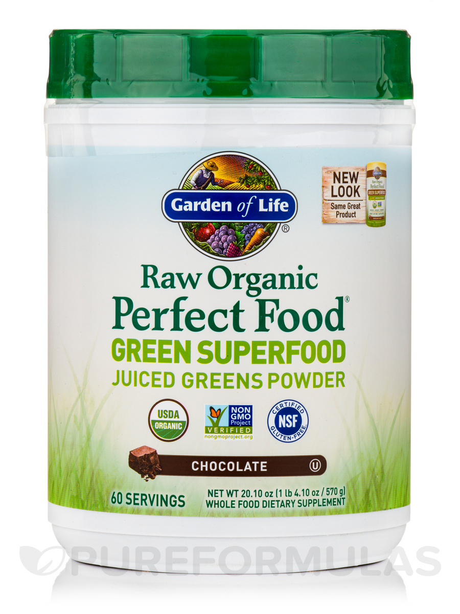 Perfect Food® RAW Real Chocolate Cacao Powder - 20 oz (570 Grams)