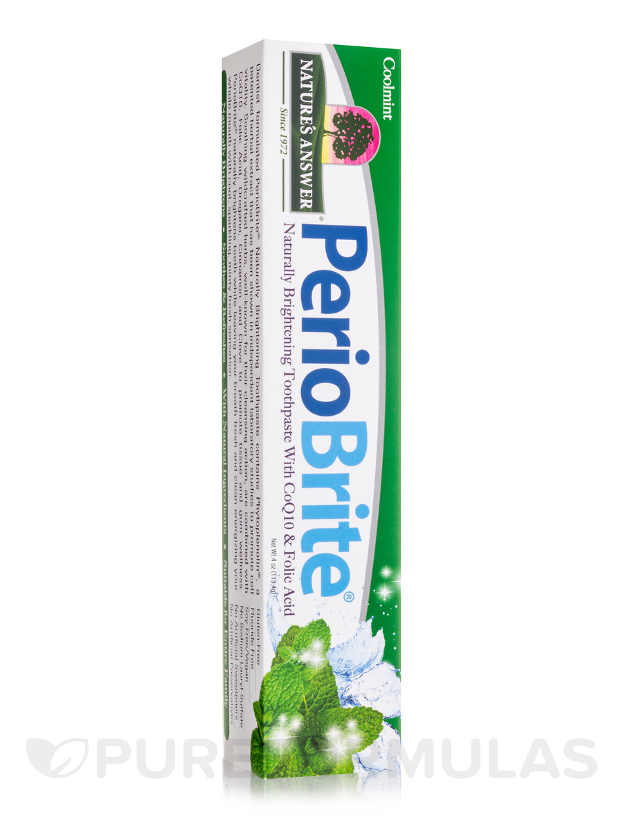 PerioBrite® Natural Toothpaste, Cool Mint - 4 oz (113.4 Grams)