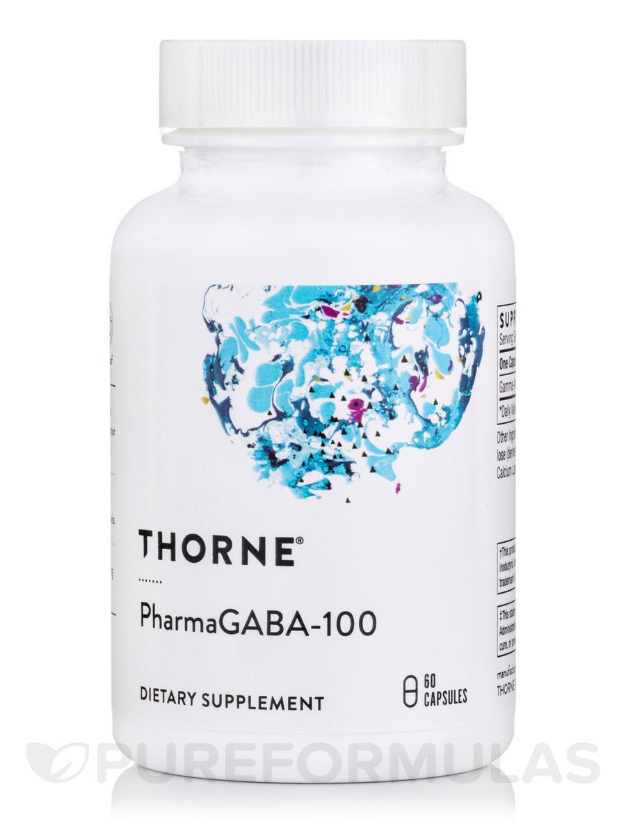 PharmaGABA-100 - 60 Vegetarian Capsules