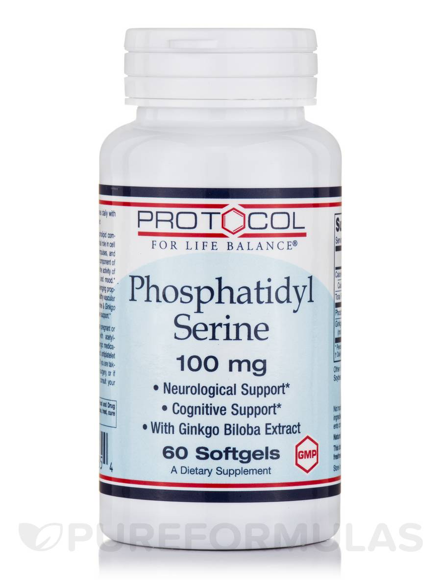 Phosphatidyl Serine 100 mg - 60 Softgels