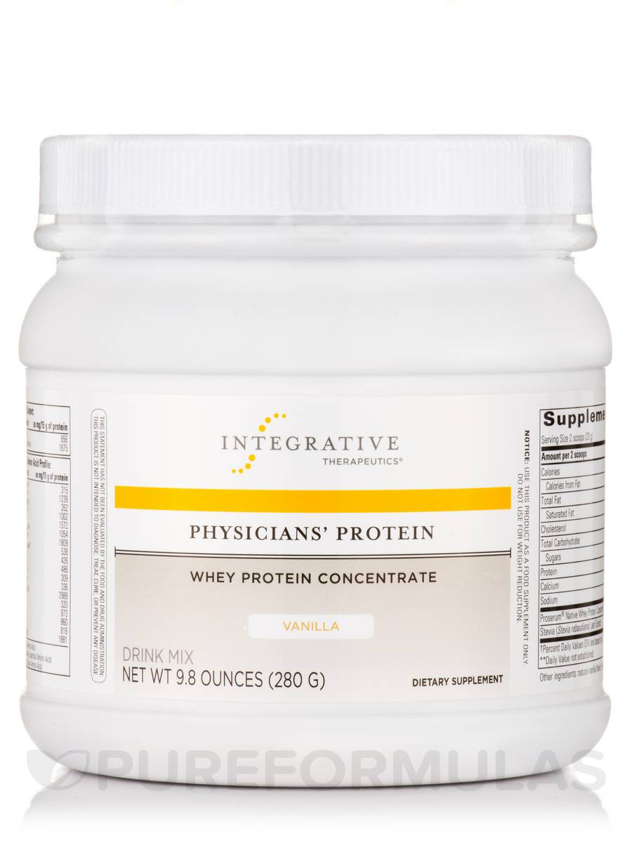 Physicians' Protein - Whey Protein Concentrate (Vanilla Flavor) - 9.8 oz (280 Grams)