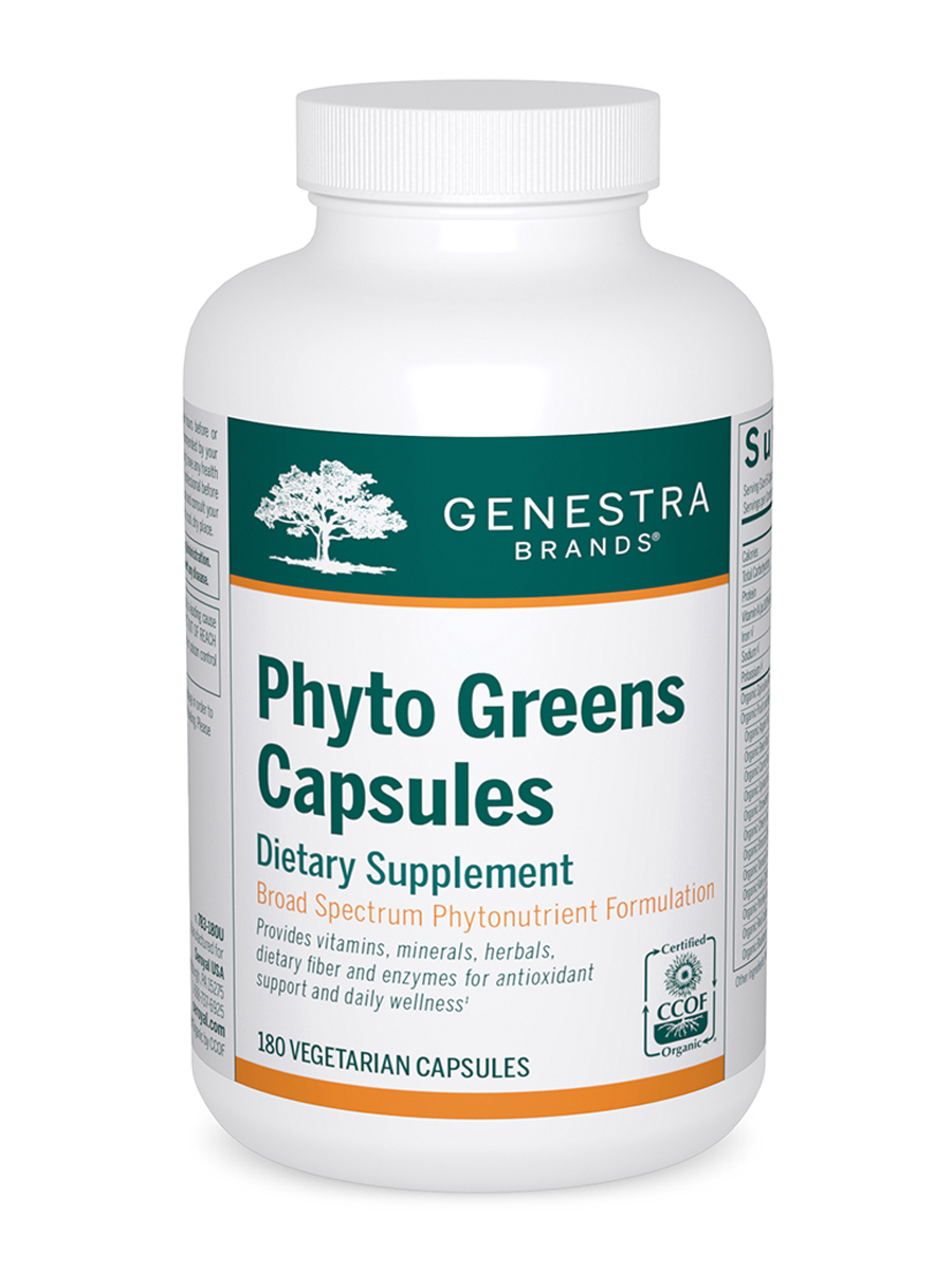 Phyto Greens Capsules - 180 Vegetable Capsules