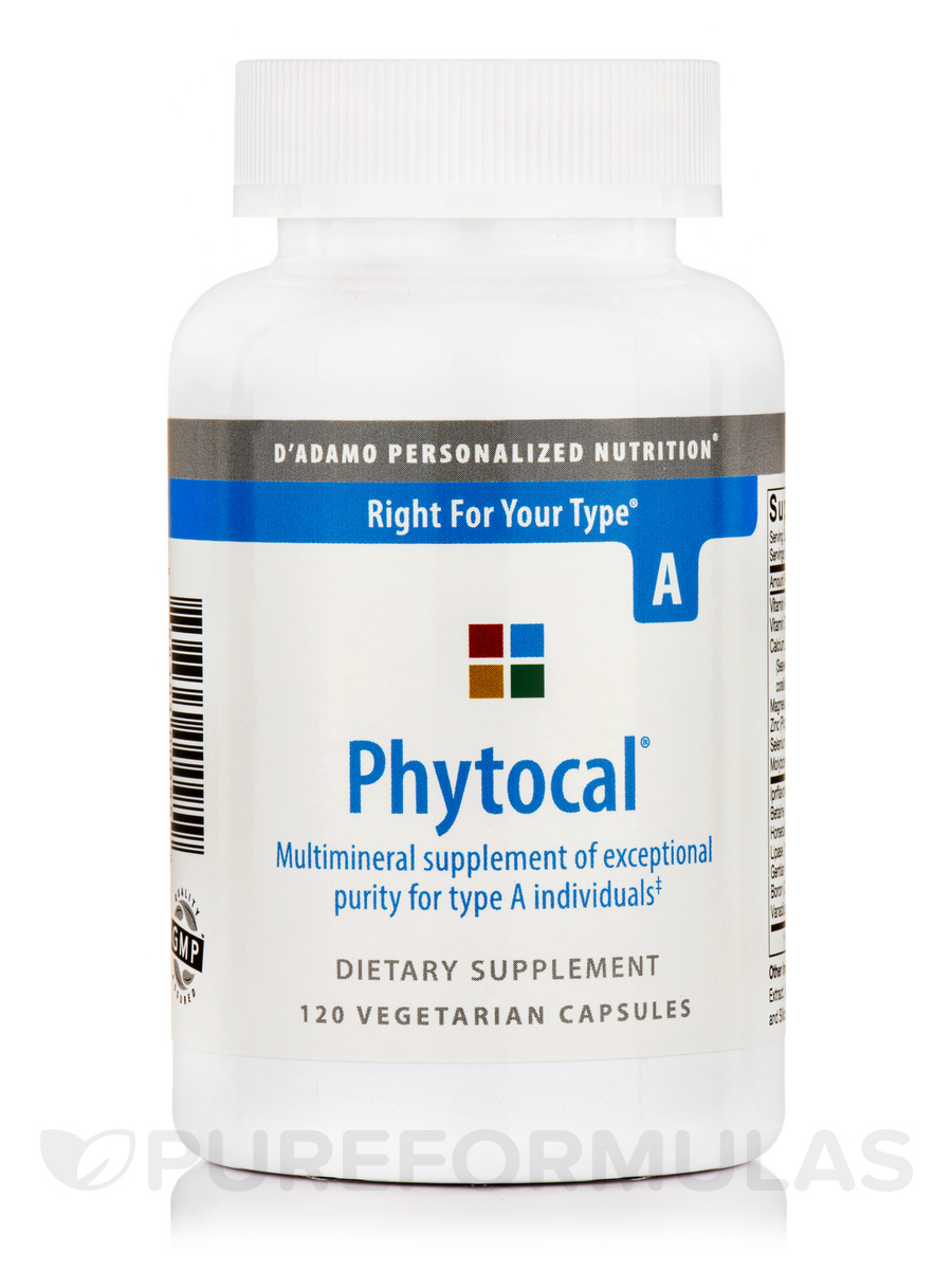 Phytocal Mineral Formula (Type A) - 120 Veggie Capsules