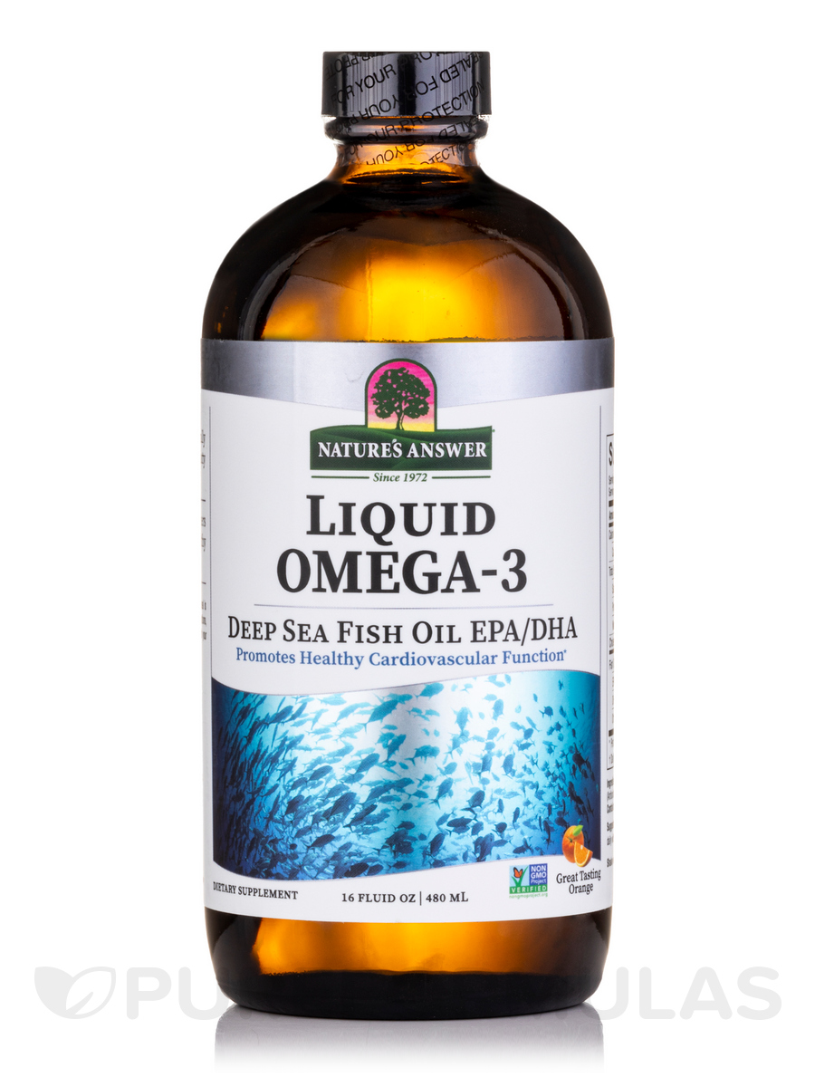 Platinum Liquid Omega-3 Deep Sea Fish Oil EPA/DHA - 16 fl. oz (480 ml)