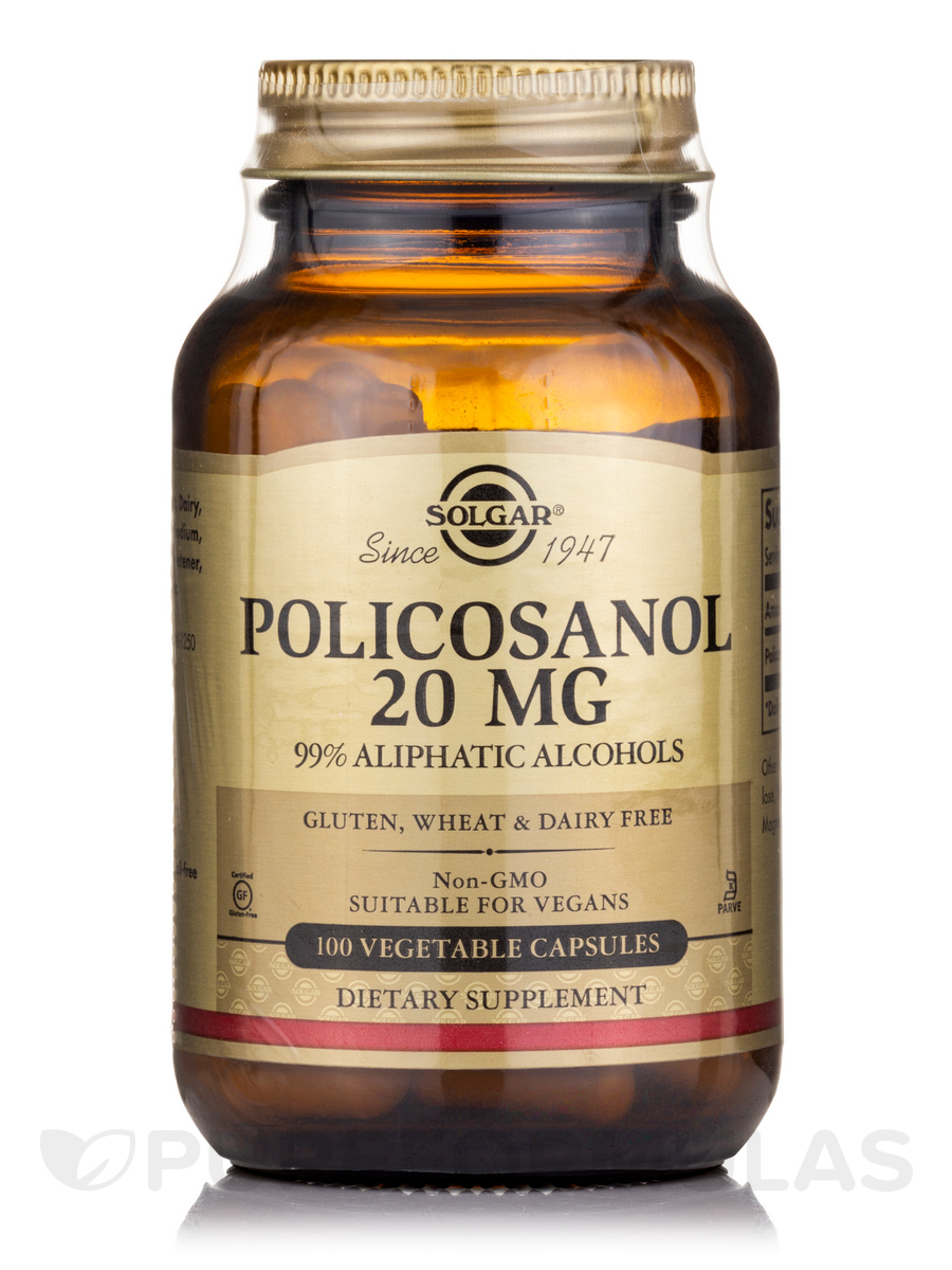 Policosanol 20 mg - 100 Vegetable Capsules