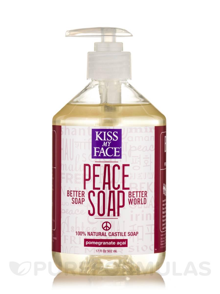 Peace Soap Pomegranate Acai Castile Soap - 17 fl. oz (502 ml)