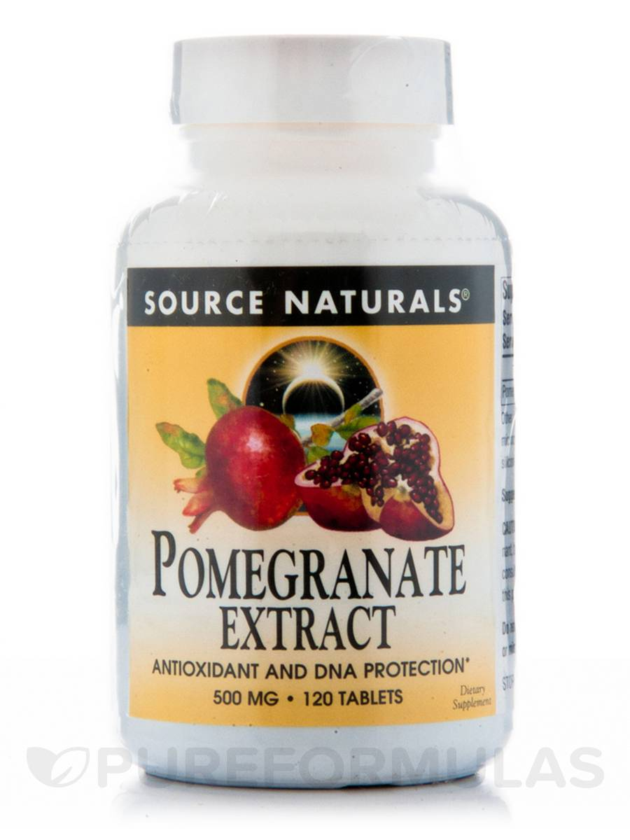 Pomegranate Extract 500 mg - 120 Tablets