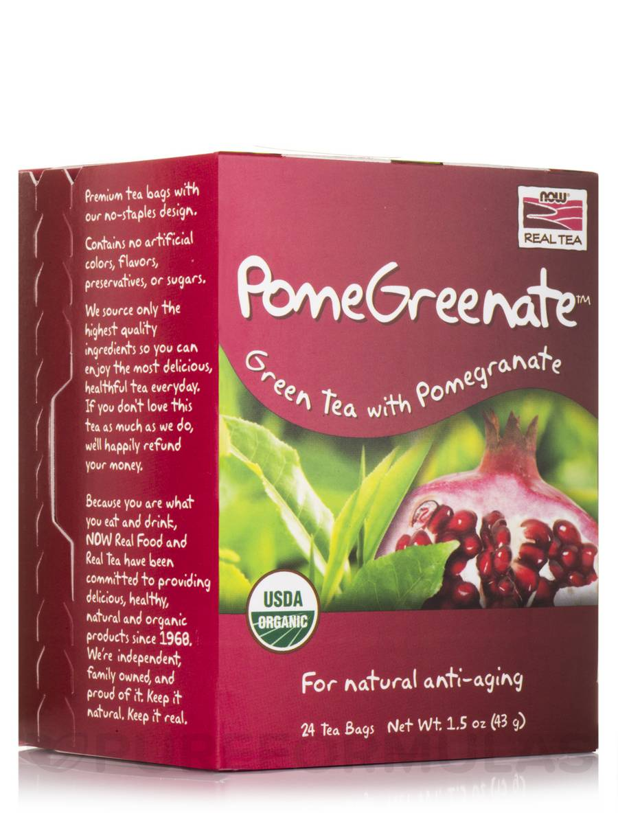 NOW® Real Tea - Pomegreenate Tea Bags - Box of 24 Packets