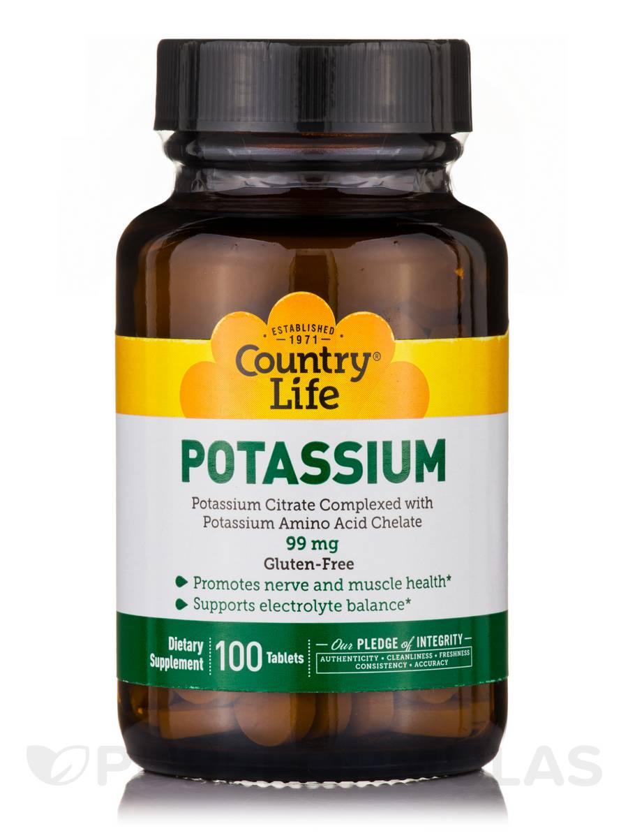 Potassium 99 mg - 100 Tablets