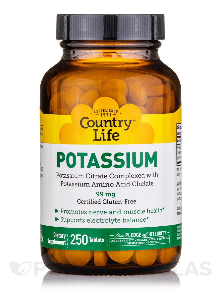Potassium - 250 Tablets