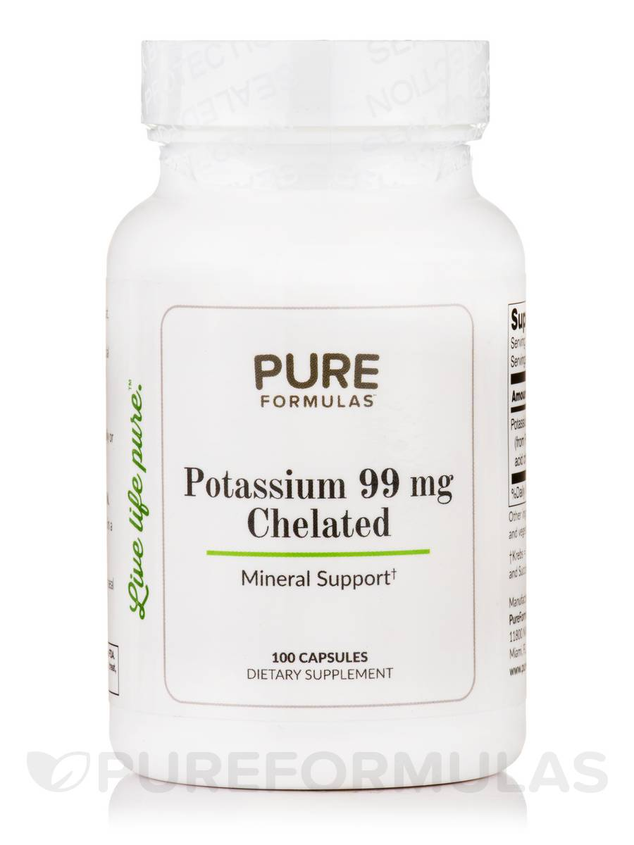 Potassium 99 mg Chelated - 100 Capsules