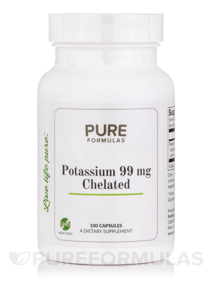 Potassium 99 mg Chelated - 100 Capsules