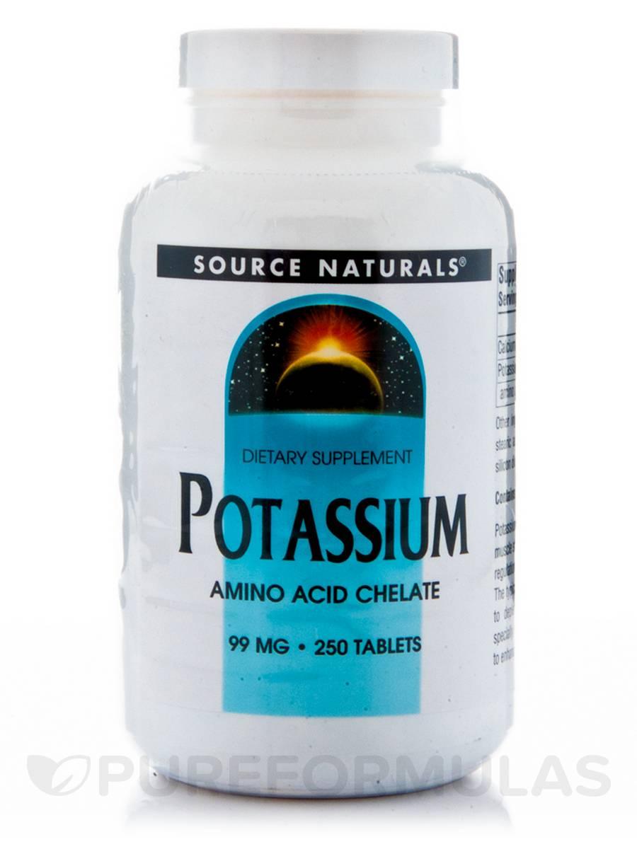 Potassium Chelated 99 mg - 250 Tablets