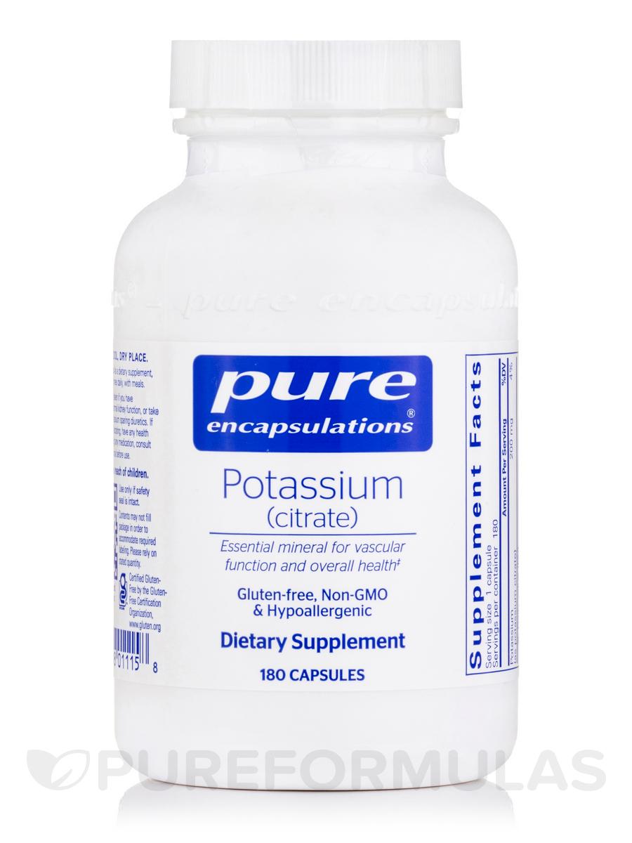 Potassium (Citrate) - 180 Capsules