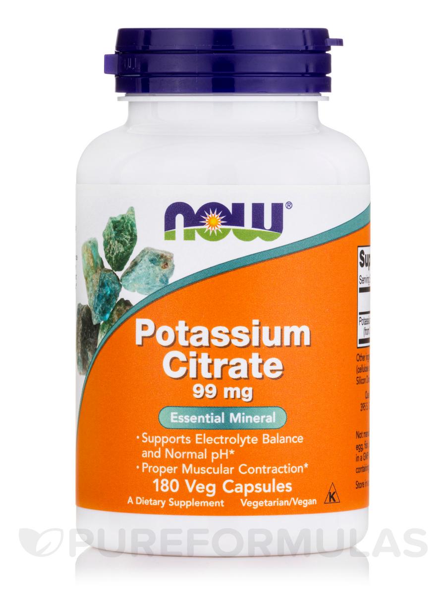 Potassium Citrate 99 mg - 180 Capsules