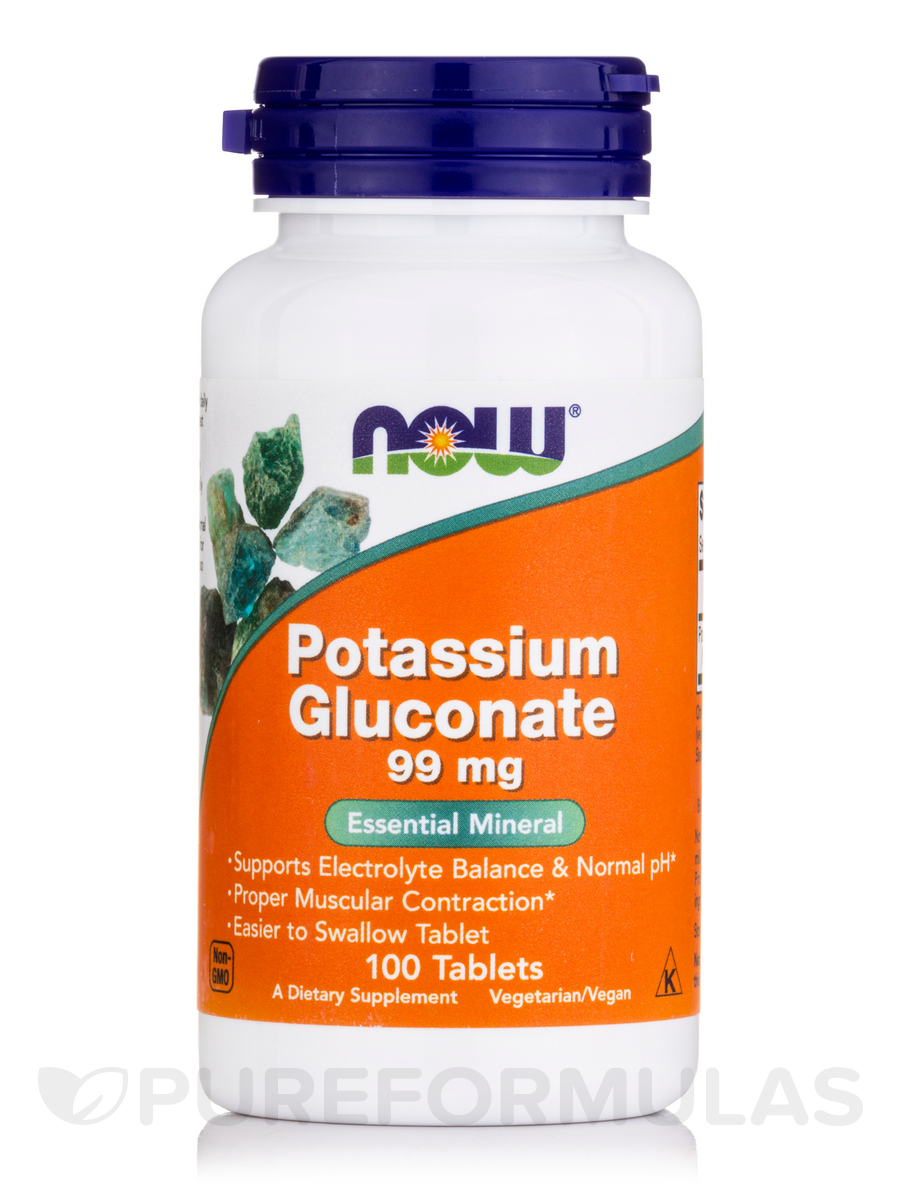 Potassium Gluconate 99 mg - 100 Tablets