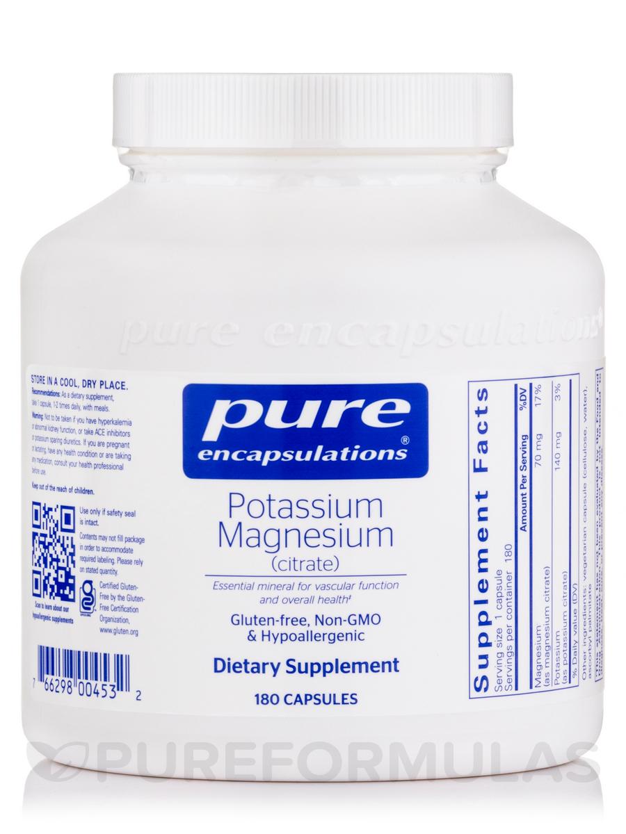Potassium Magnesium (citrate) - 180 Capsules
