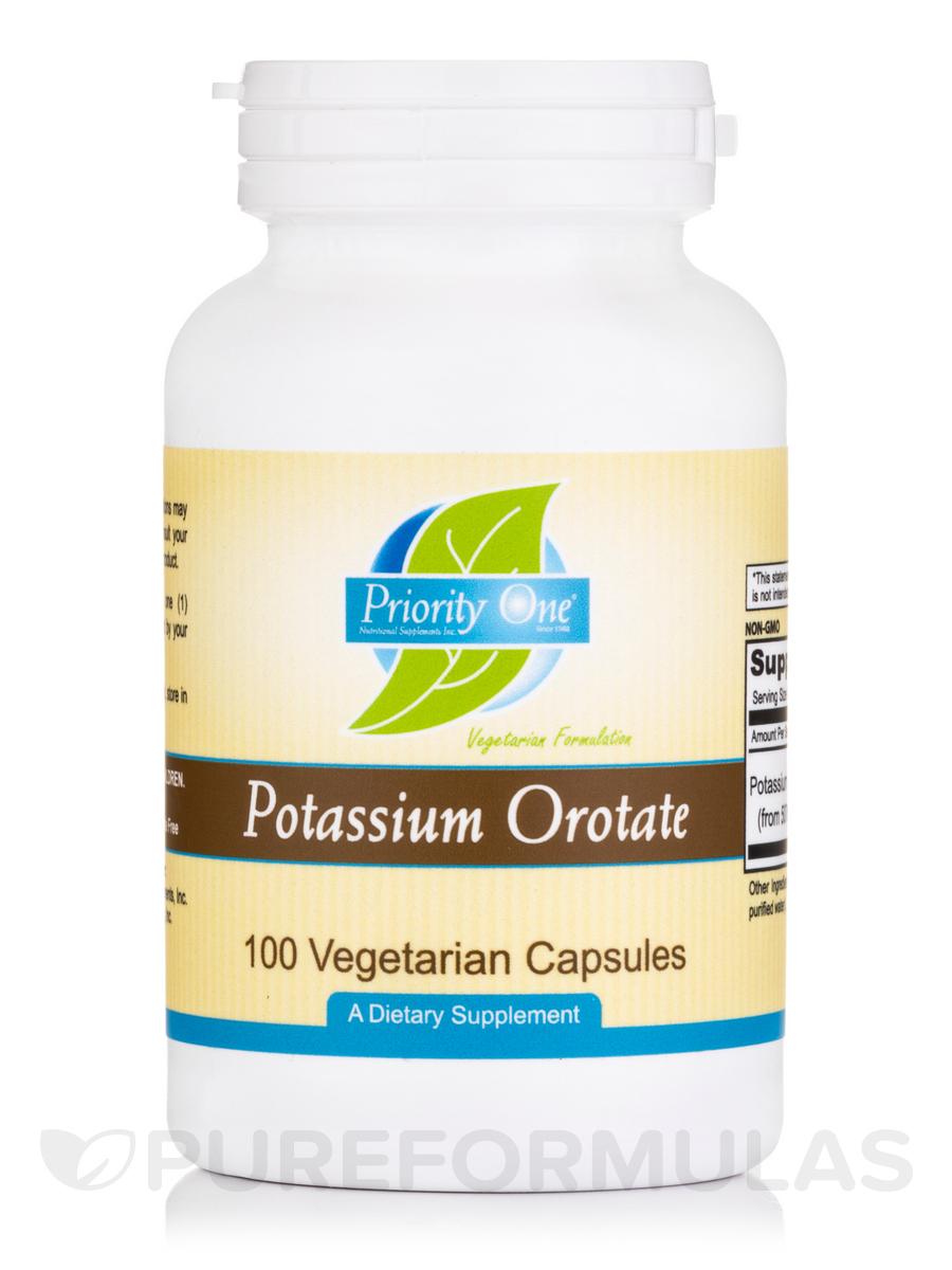Potassium Orotate - 100 Vegetarian Capsules
