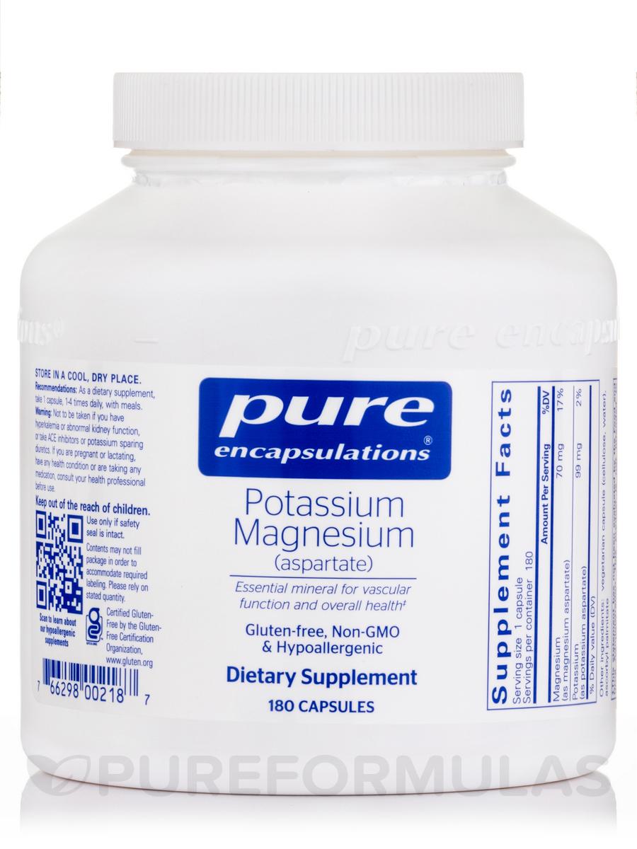 Potassium Magnesium (aspartate) - 180 Capsules