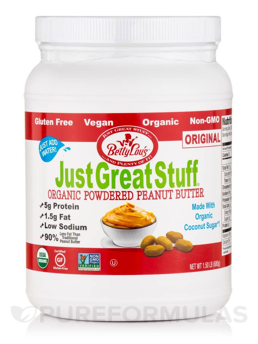 Organic Powdered Peanut Butter, Original - 1.50 lb (680 Grams)