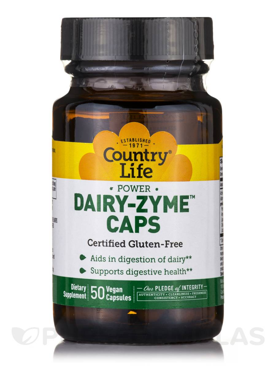 Power Dairy-Zyme - 50 Vegan Capsules