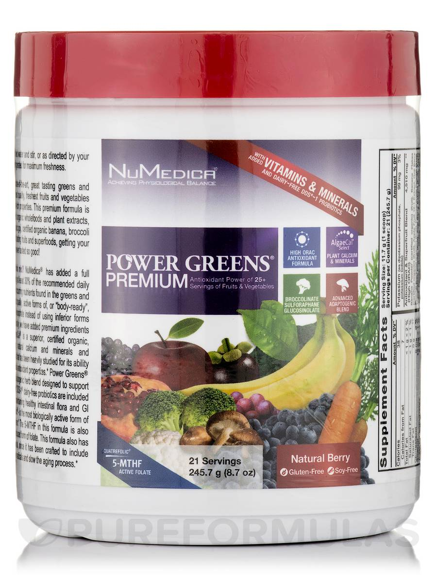 Power Greens® Premium Berry Flavor - 21 Servings (8.7 oz / 245.7 Grams)