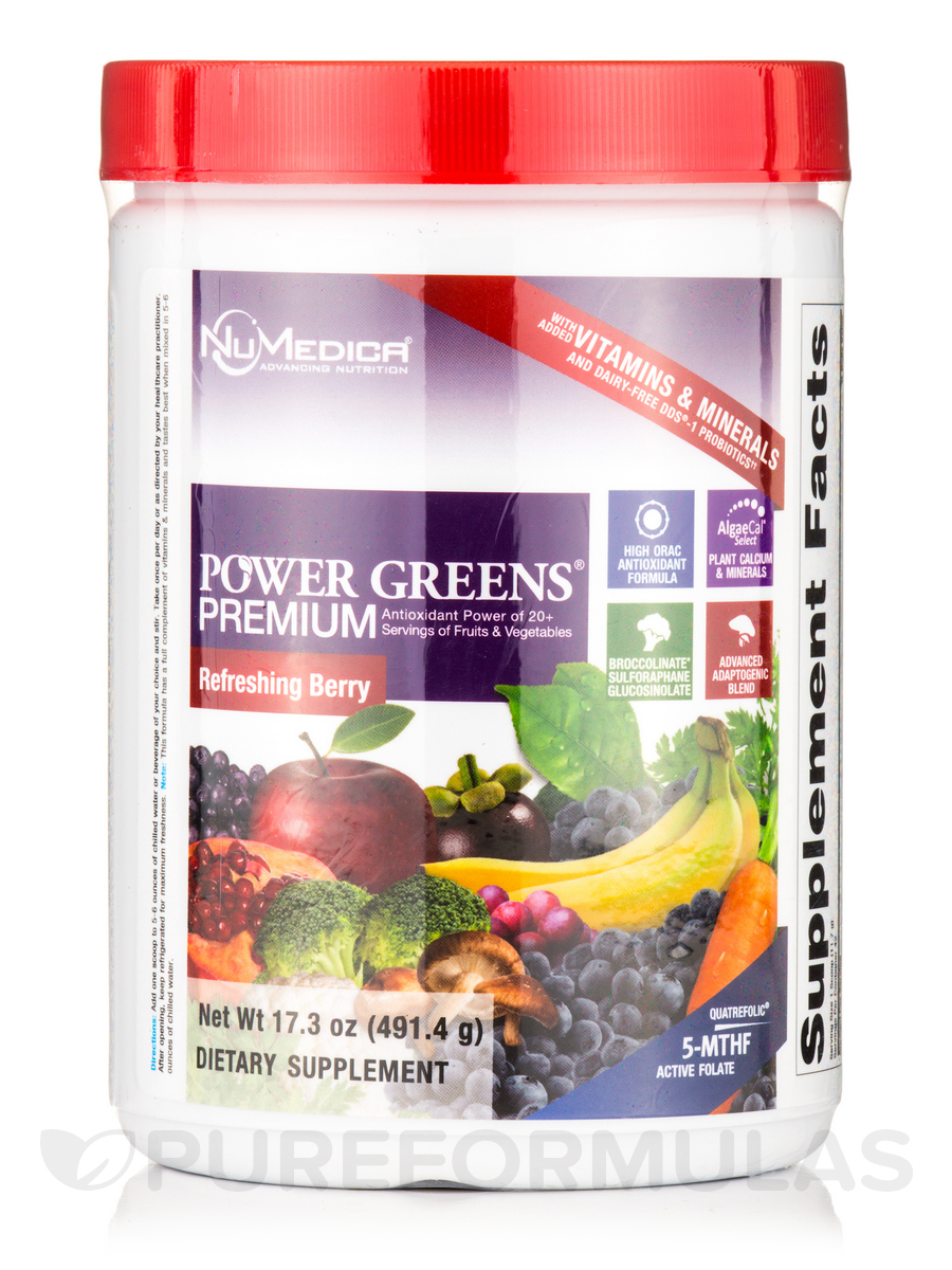 Power Greens® Premium Berry Flavor - 42 Servings (17.3 oz / 491.4 Grams)