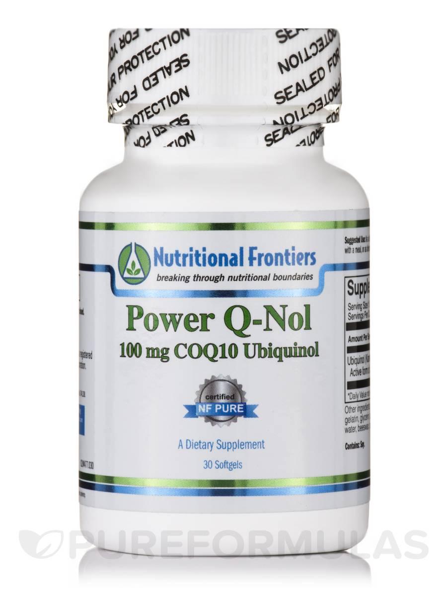 Power Q-Nol (100 mg COQ10 Ubiquinol) - 30 Softgels