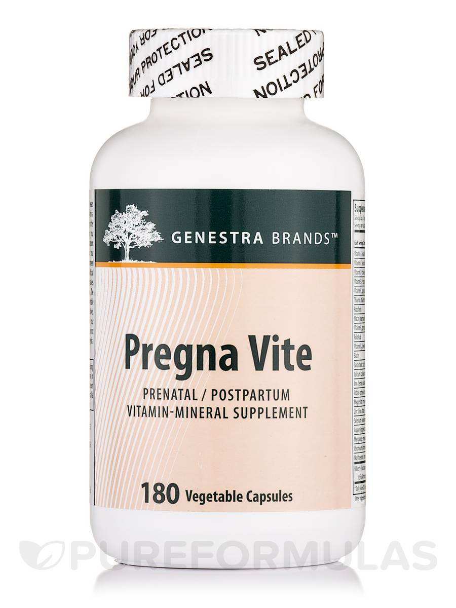 Pregna Vite - 180 Vegetable Capsules