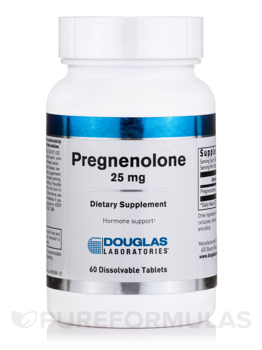 Pregnenolone 25 mg Sublingual - 60 Tablets